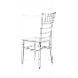 La chaise CHIAVARI TIFFANY transparent